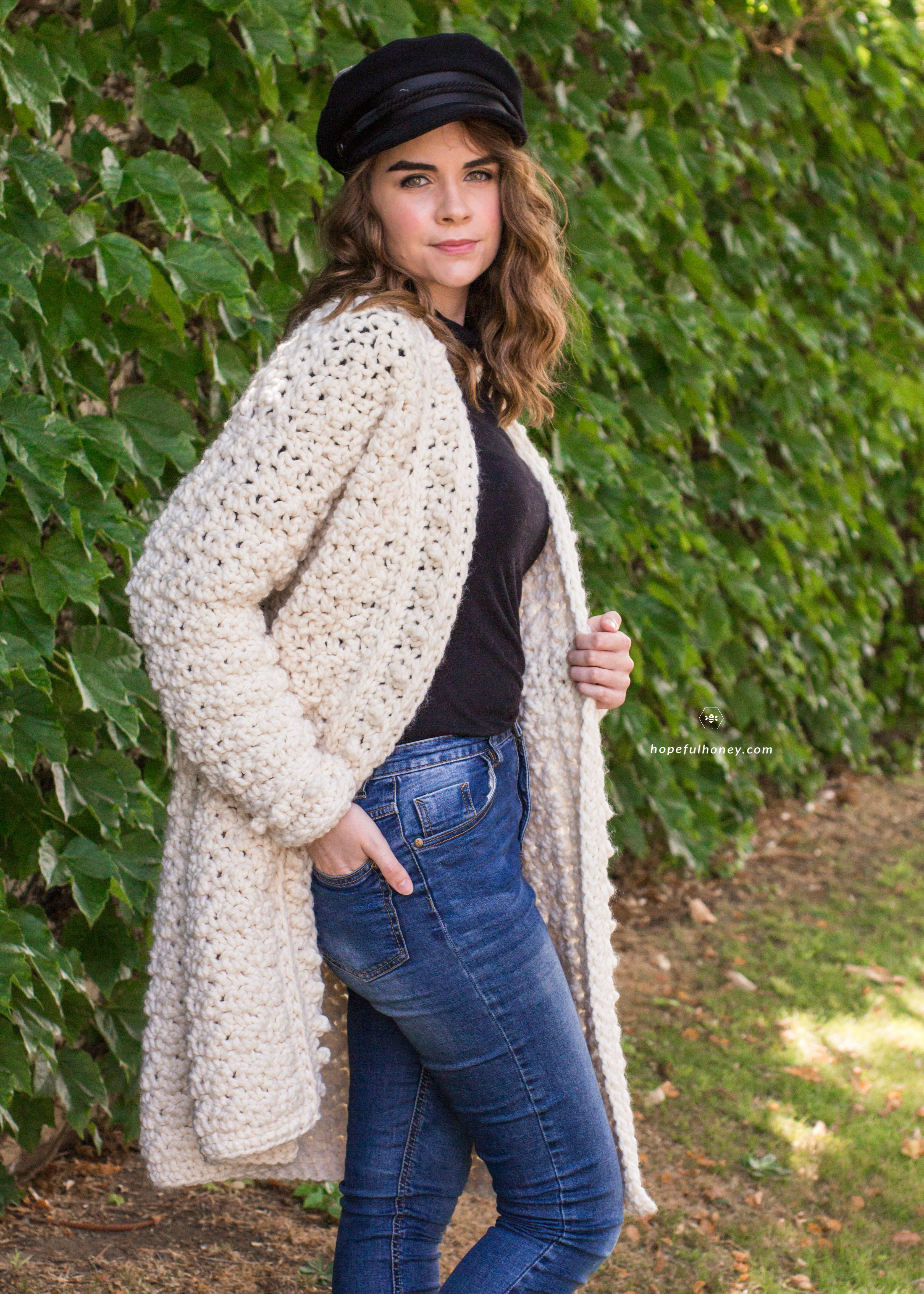 Snow Angel Cardigan Free Crochet Pattern by | Sacos tejidos, Bolsos ...