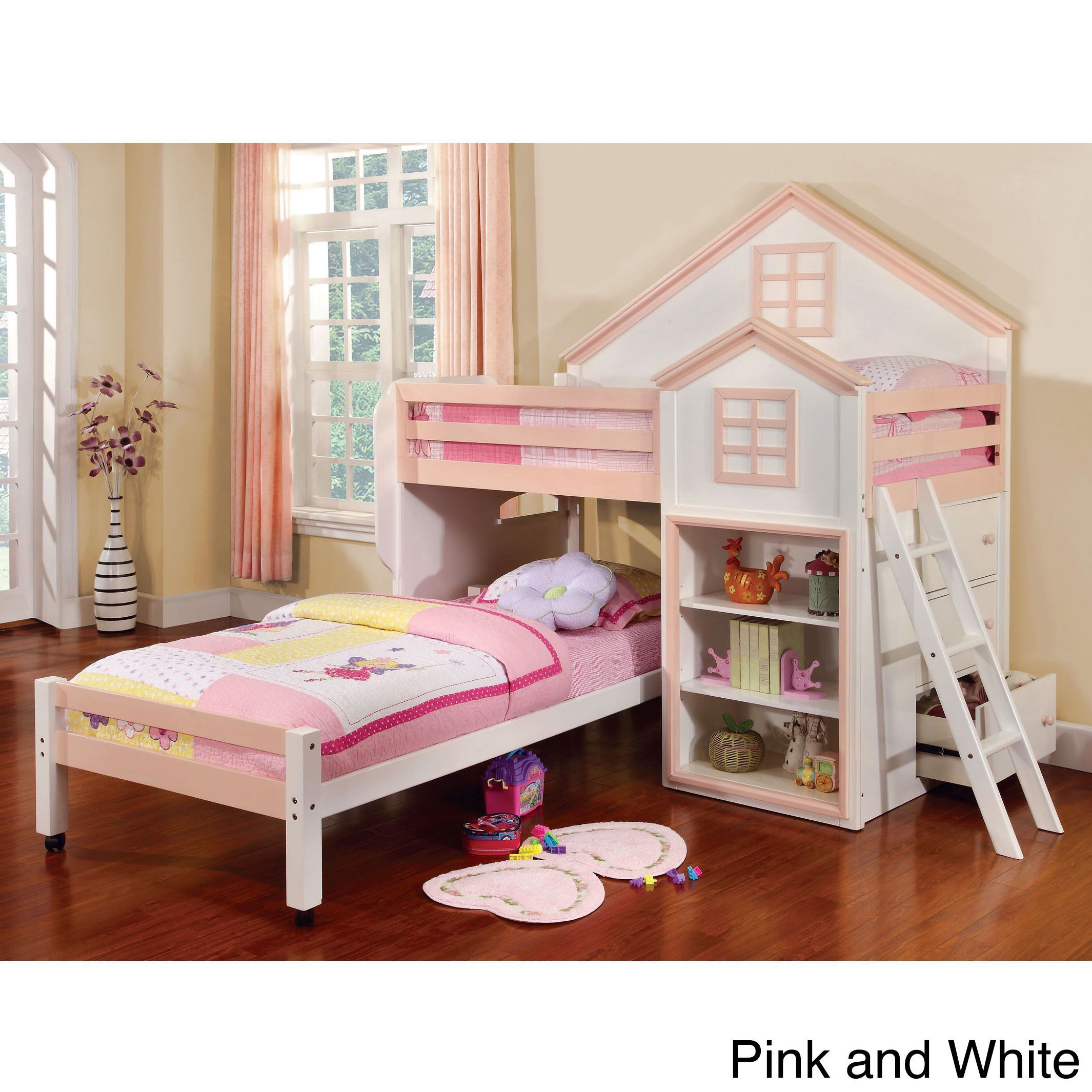 Loft bed with desk pottery barn  Inspire creativity and offer a nurturing environment with this house