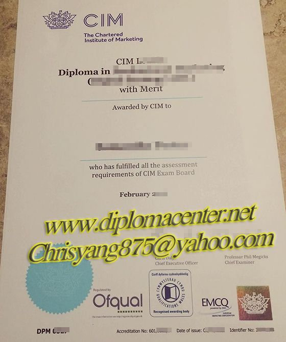 The Chartered Intitute Of Marketing Cim Diploma Buy Fake Degree