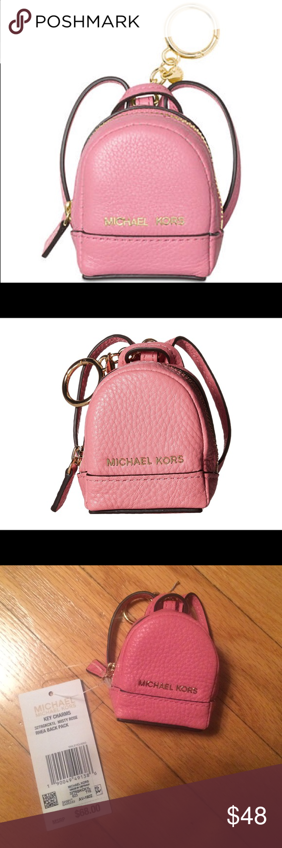 NWT Michael Michael Kors Rhea Backpack Key Charm Adorable backpack keychain.  Could be used for storing coins or other small items. fd4489b1c4