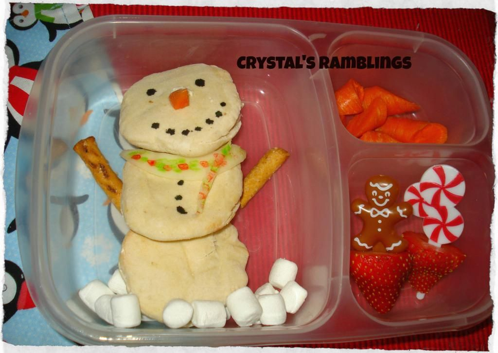 what do snowmen eat for lunch