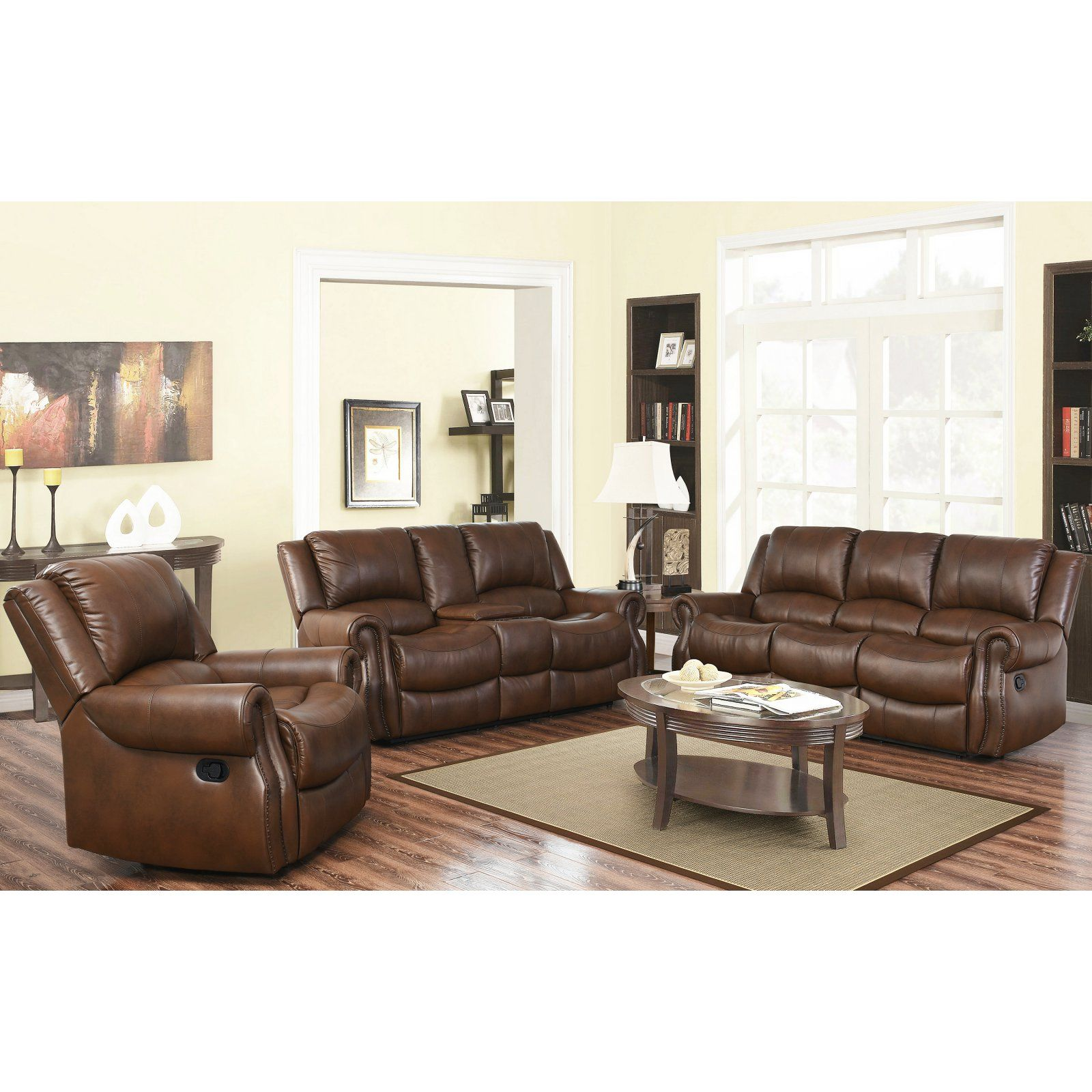 Remarkable Abbyson Living Ojai 3 Piece Mesa Camel Reclining Sofa Set Evergreenethics Interior Chair Design Evergreenethicsorg