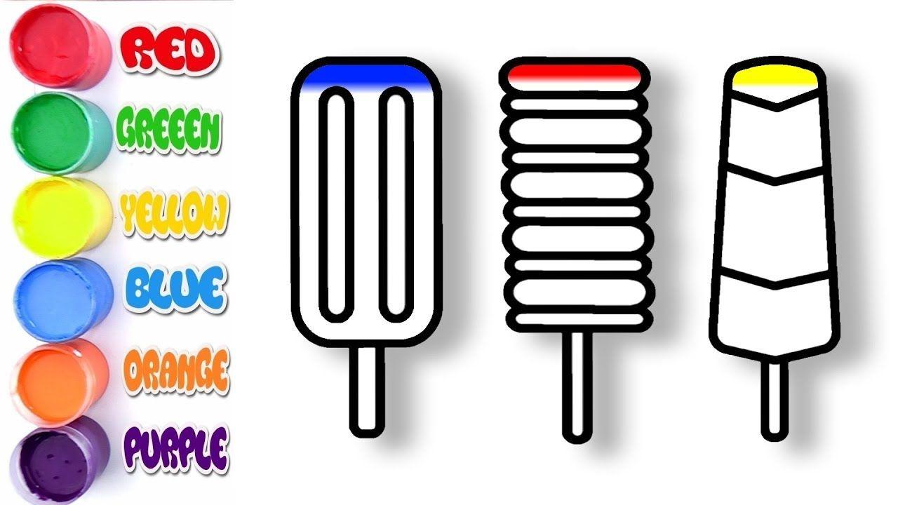 Cocuklar Icin Renk Ogrenenler Glitter Dondurma Boyama Sayfalari Boyama Sayfalari Renkler Glitter