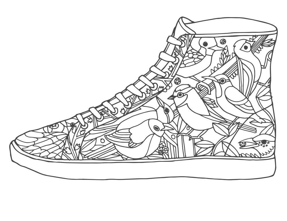Resultado de imagem para como desenhar um tênis | Coloring ...