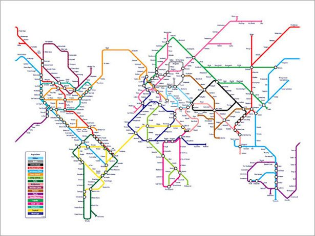 Alternative Nyc Subway Map.Alternative Maps Of The World Maps Inspiration Subway Map Map