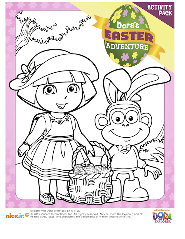 Easter Printables Dora Coloring Easter Printables Free Easter Floral