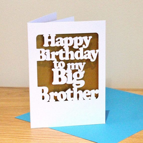 Happy birthday big brother birthday card custom colour papercut happy birthday big brother birthday card custom colour papercut card for older brother urtaz