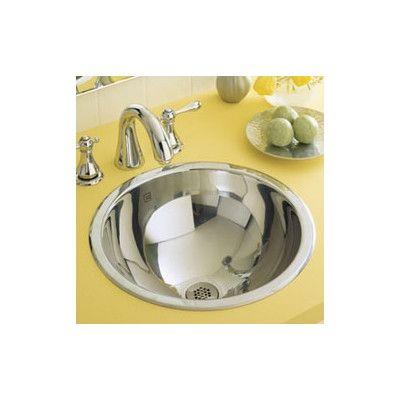 Photo of Teanna stainless steel metal round undercounter sink