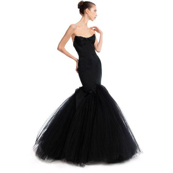 Zac Posen Mermaid Duchess Evening Gown (19 765 AUD) ❤ liked on ...