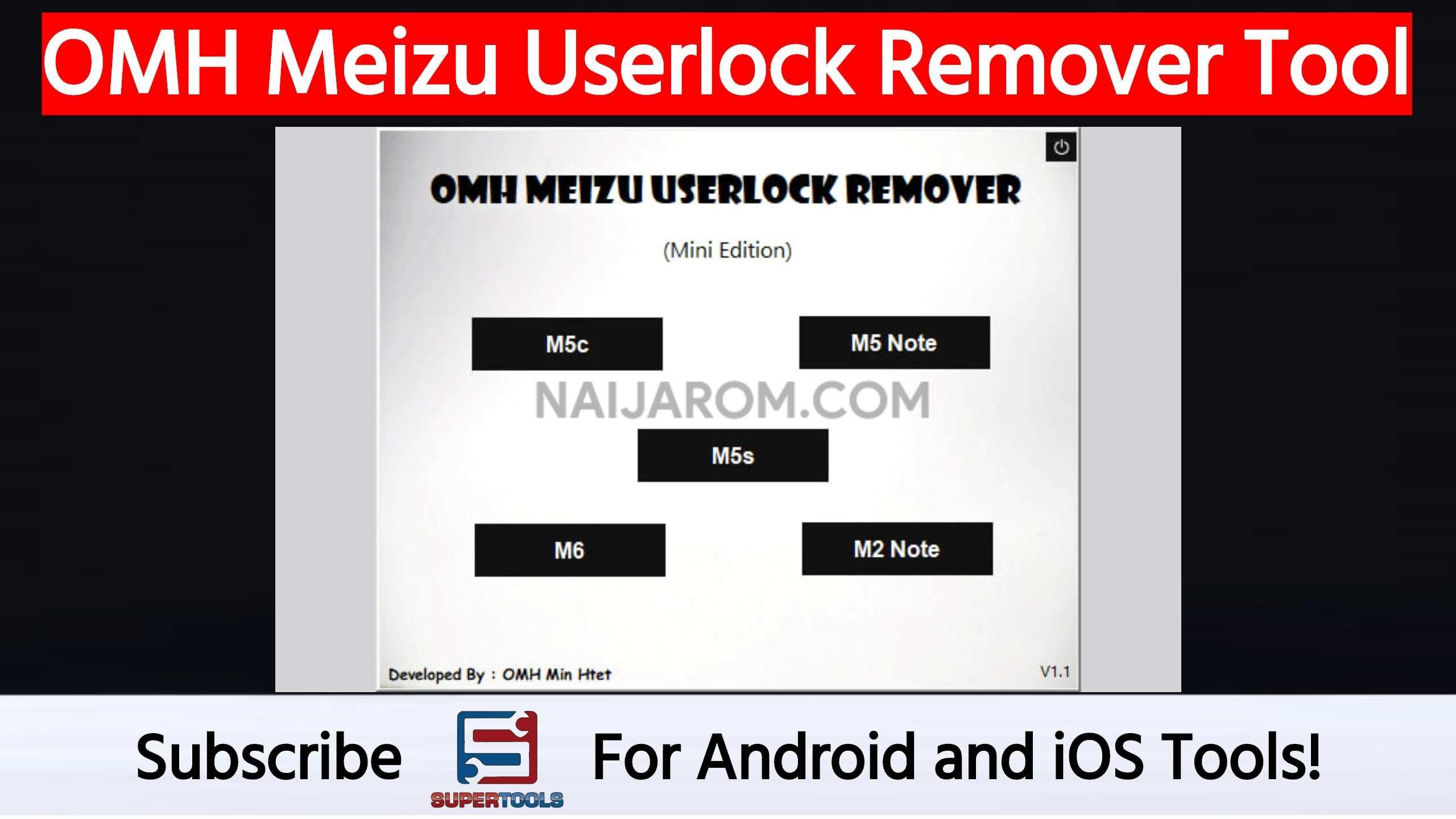 OMH Meizu Userlock Tool will help you to remove the userlock