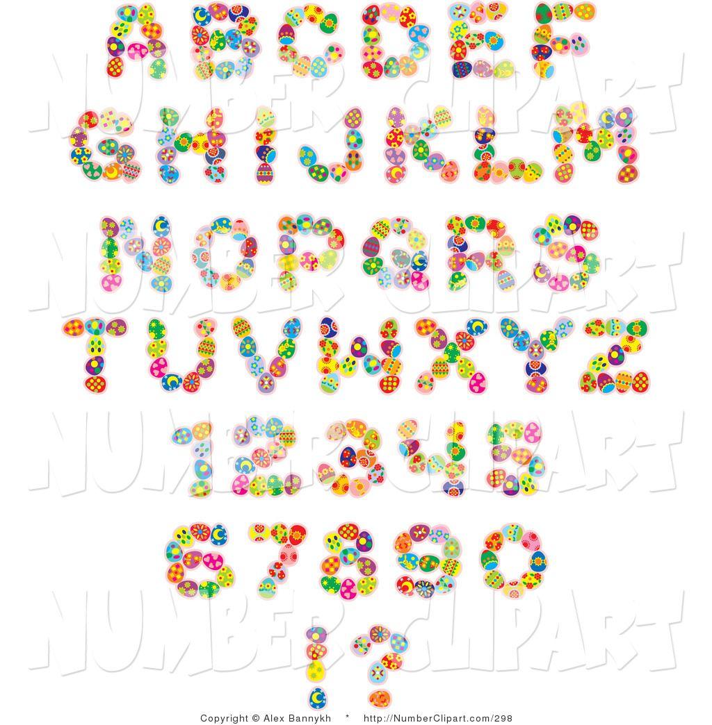 Clip Font  Clip Art Of An Alphabet Font Set Of Colorful Easter