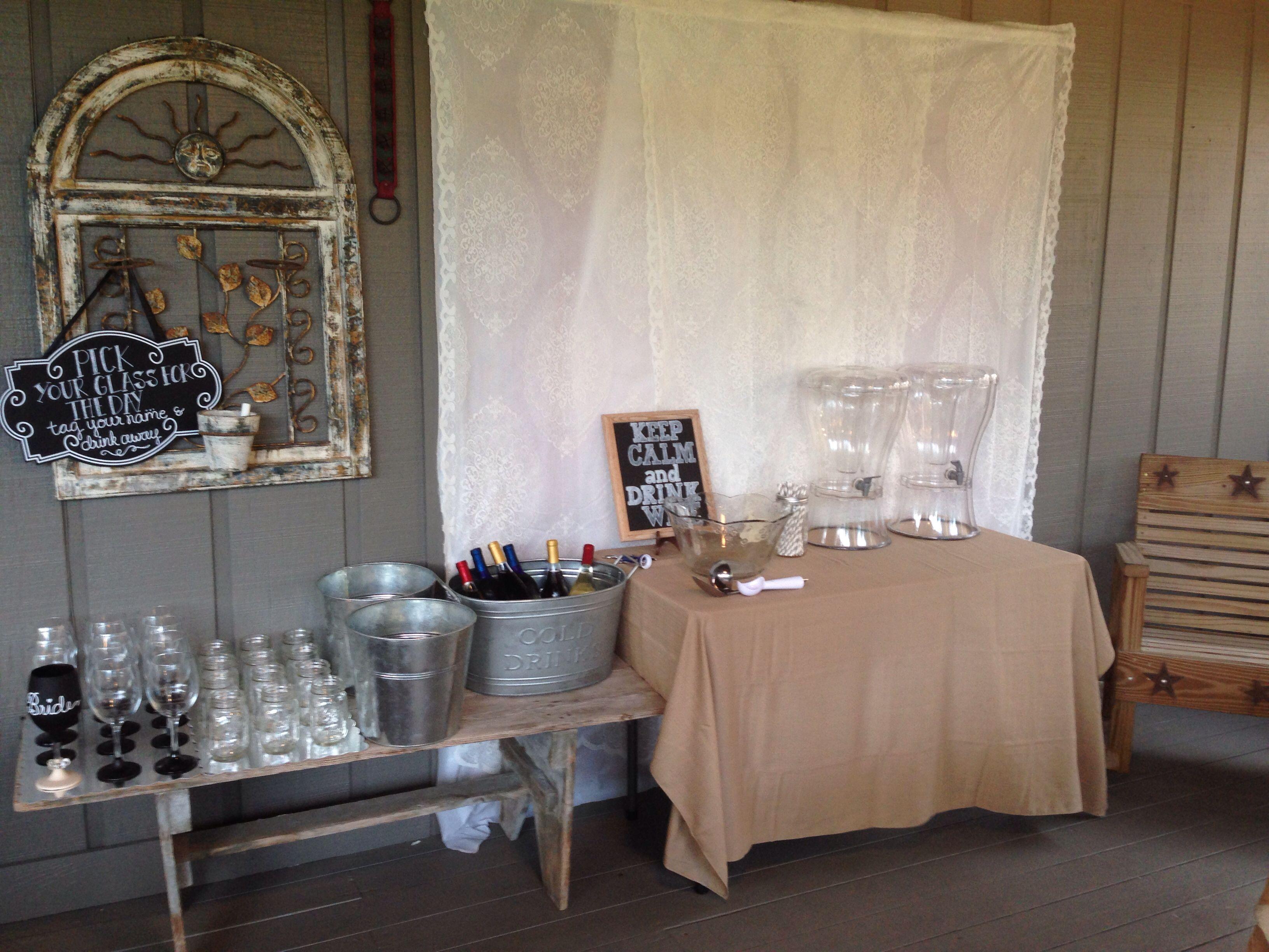 rustic bridal shower decor