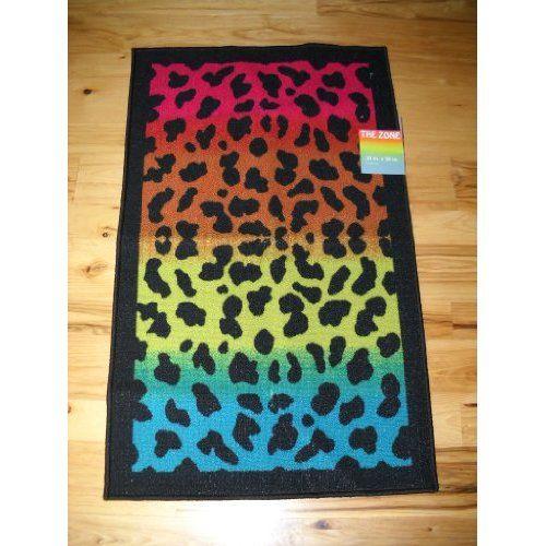 Throw Rugs In Bedroom: Girls Bedroom Decor Black Rainbow Leopard