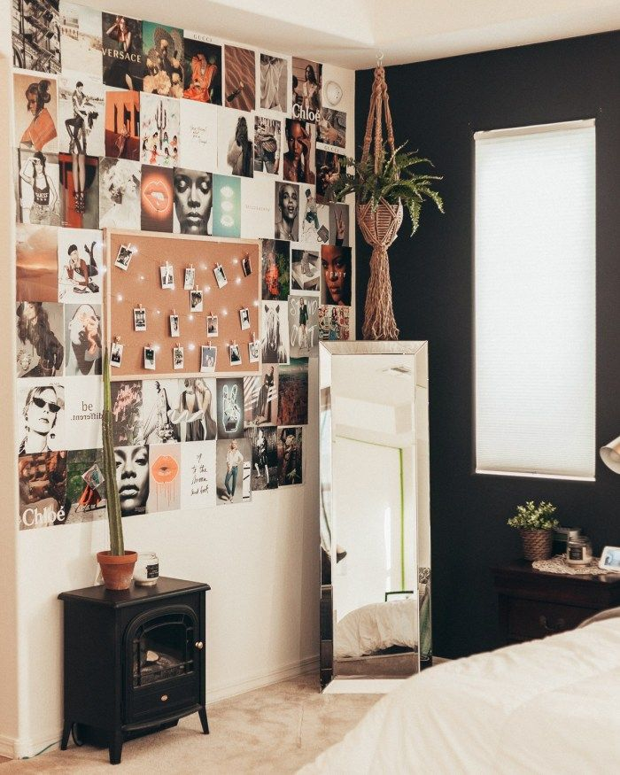DIY Collage Wall | Bedroom wall collage, Aesthetic room ...