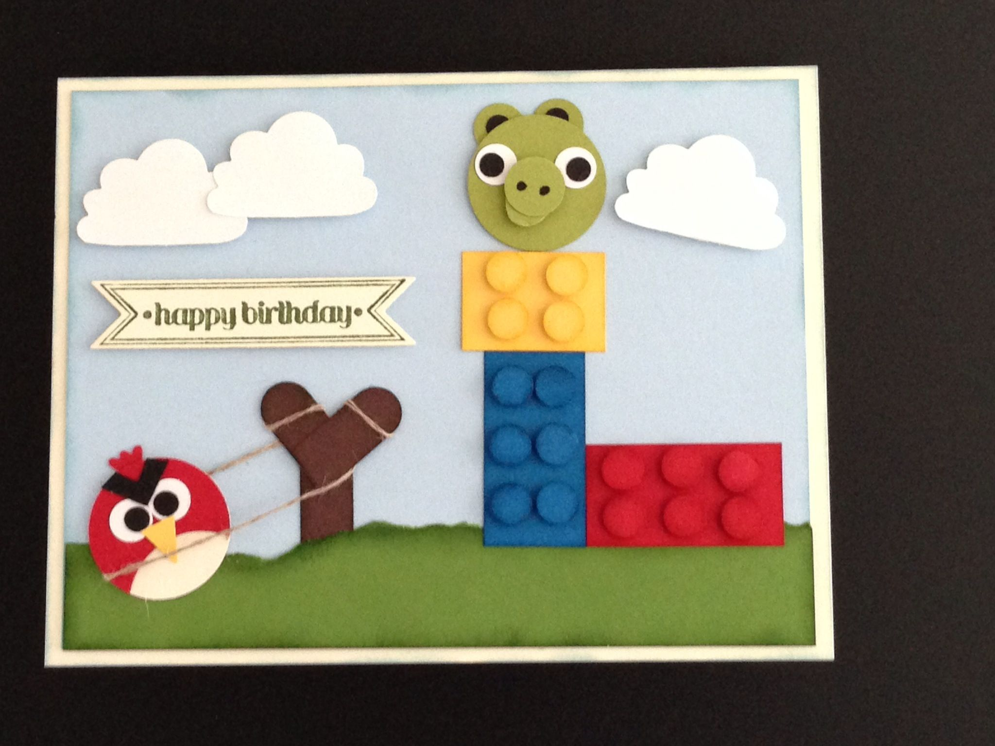 Angry bird lego card made this for my nephews 7th birthday card made this for my nephews 7th birthday m4hsunfo