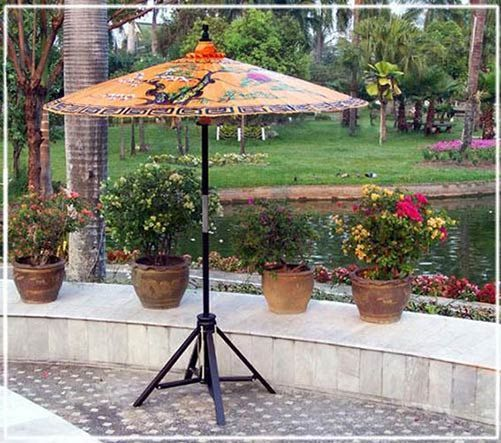 7 Ft. Hand Painted Asian/Oriental Patio Umbrellas! On Sale! (if