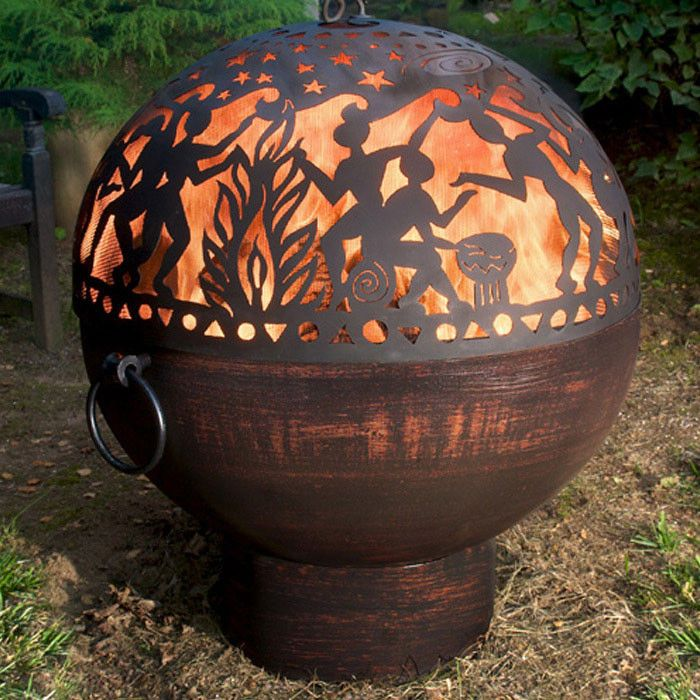 Fire Pit Dome Cool Full Moon Party Wood Burning Fire Pit Outdoor Fire Pit