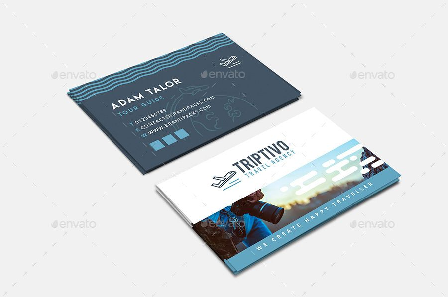 Travel Company Business Card Template Corporate Pinterest