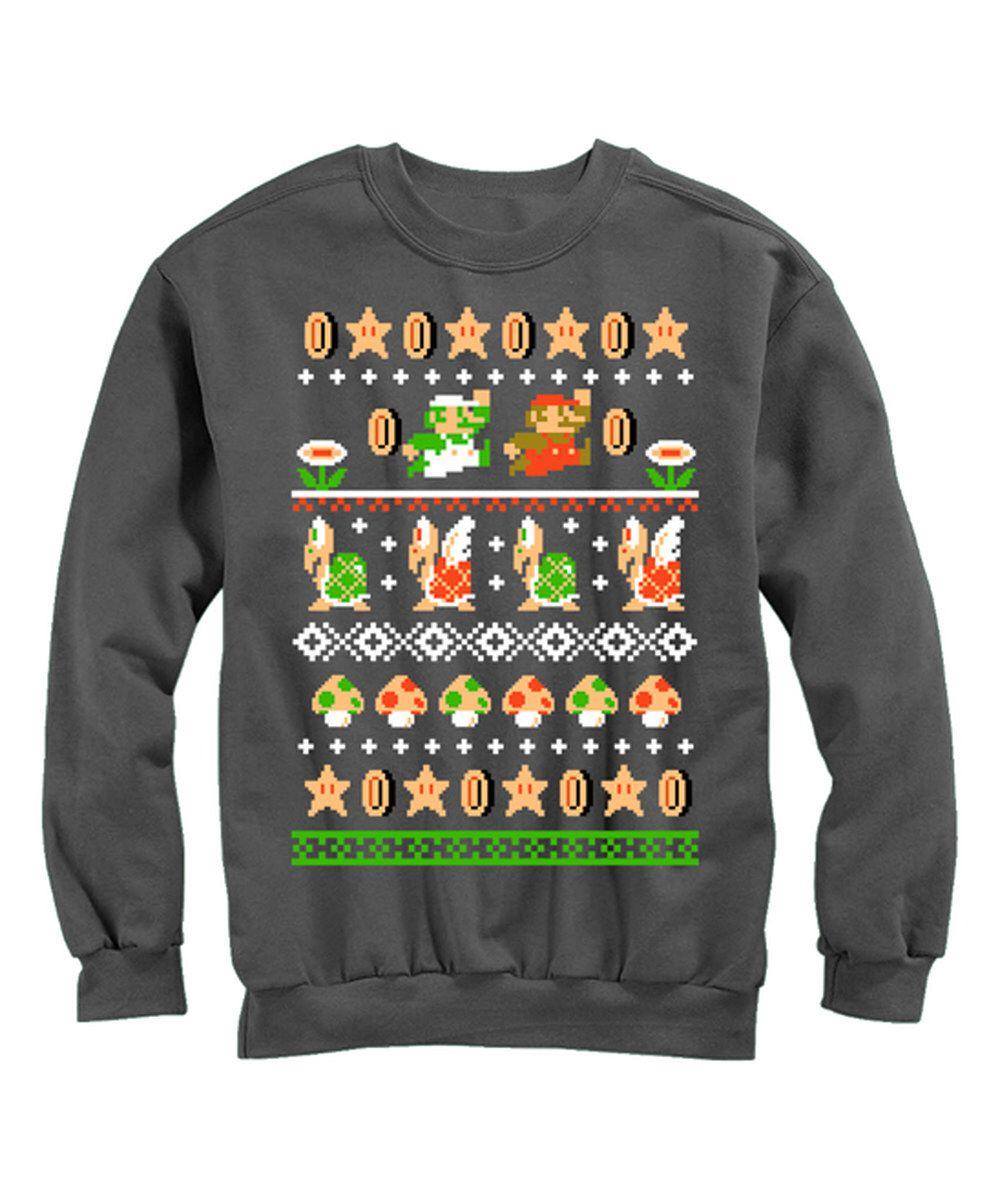 Look At This Black Super Mario Bros Nordic Sweatshirt Men S Regular On Zulily Today Mens Sweatshirts Sweatshirts Super Mario Bros [ 1201 x 1000 Pixel ]