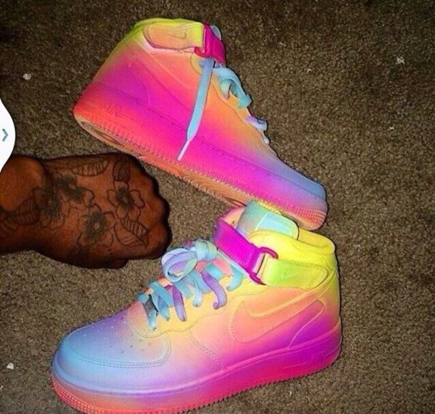 premium selection e80f2 b6c7b Dope tie dye air forces!