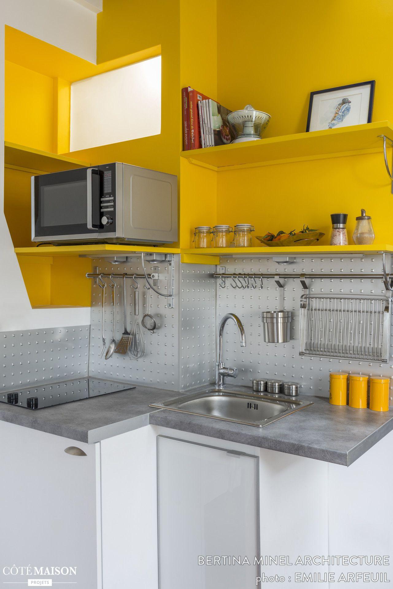 Le jaune donne beaucoup de pep à cette kitchenette | Maison de Rêve ...
