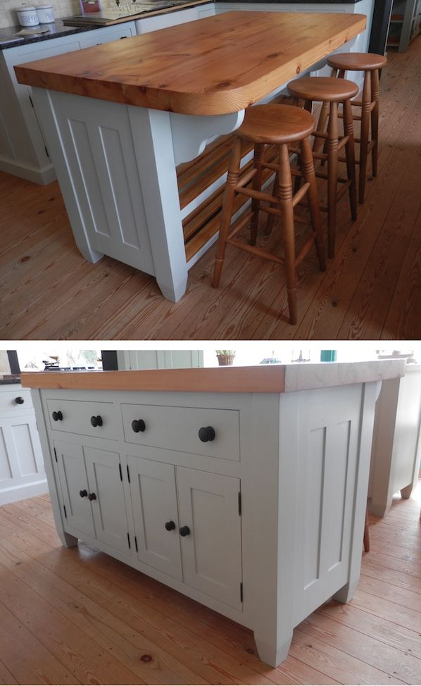 Delicieux Handmade Solid Wood Island Units Freestanding Kitchen John Kitchens Real  Bespoke