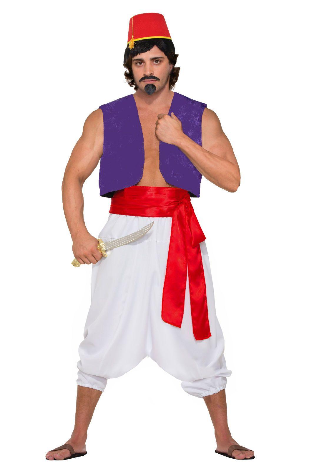 Desert prince aladdin arabian nights whole costume hat vest sash