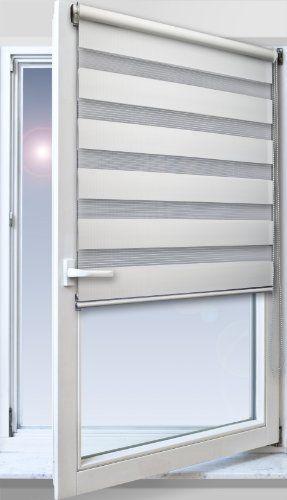 5e4a37a67e174a Amazon.de: TEXMAXX Fensterrollo Duo-Rollo Doppelrollo Sonnenschutz mit  Kettenzug und Klemmfix ohne
