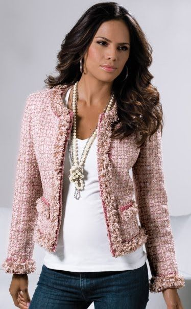 I believe Chanel s jacket is the most beautiful jacket any woman could  wear. It is a must in every closet (there are similar ones in Mango,H M,and  Zara,Tory ... 76d5102bf761
