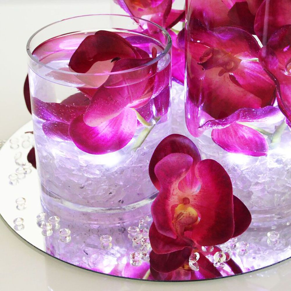 Diy glowing submersible centerpiece afloral wedding blog silk flower phalaenopsis orchid spray in bright tall x blooms mightylinksfo
