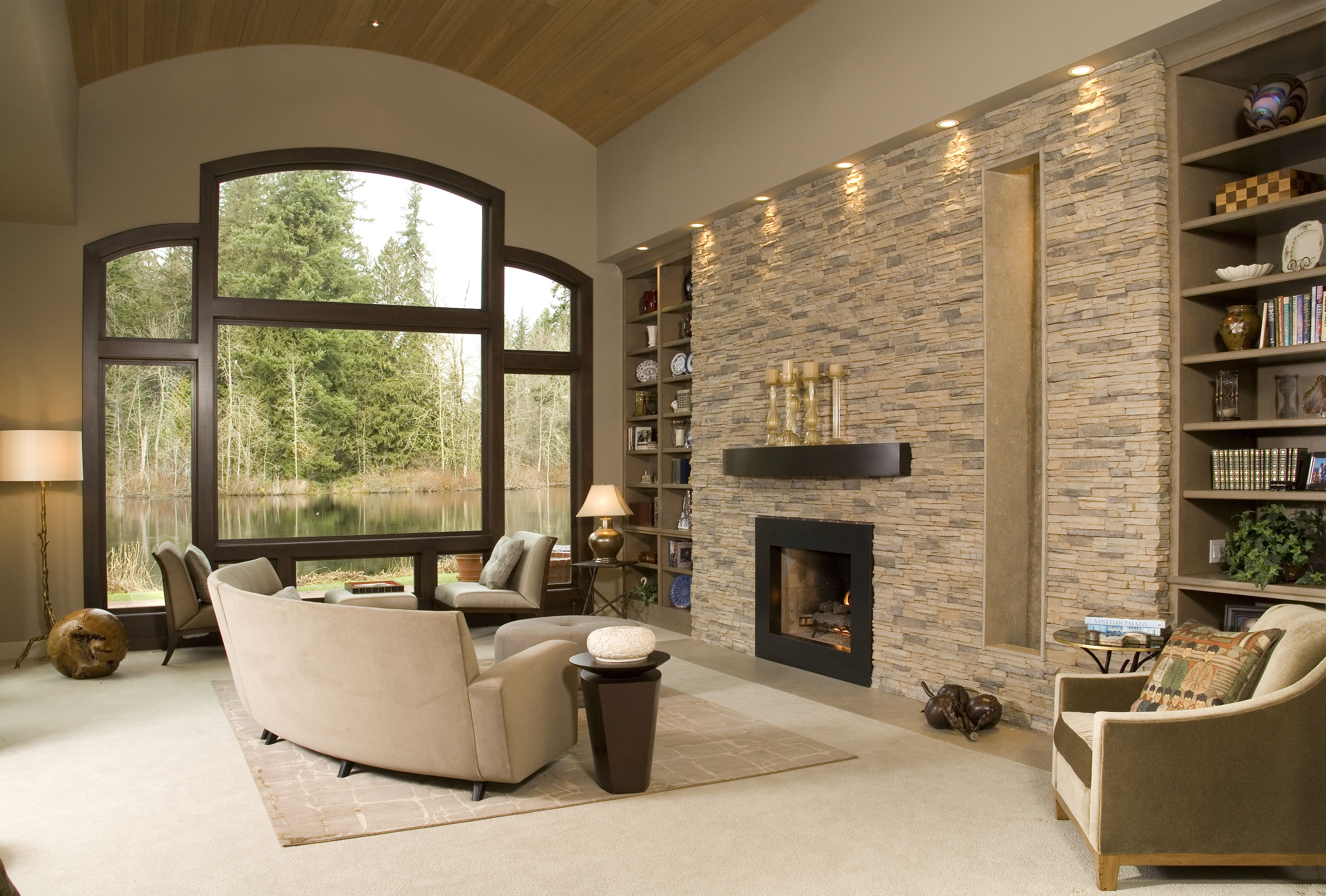 Eldorado Stone Accent Wall Alderwood Stacked Stone Accent