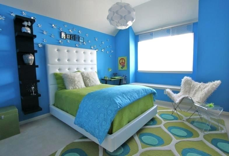 Green Blue Paint For Bedroom Lime Green Blue Modern Bedroom Decorating Ideas Blue Green Gray Wall Pa Blue Bedroom Decor Blue Bedroom Design Green Bedroom Walls