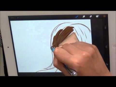 สอนวาดการ ต นด วย Ipad App Procreate
