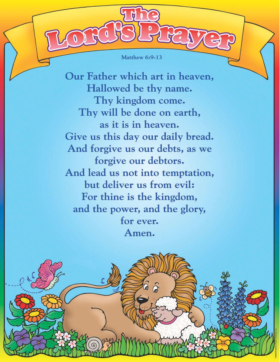 the lords prayer for kids words pinterest lord sunday