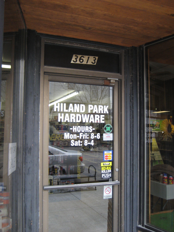 Hiland Park Hardware Store in Des Moines, Iowa Iowa, Des