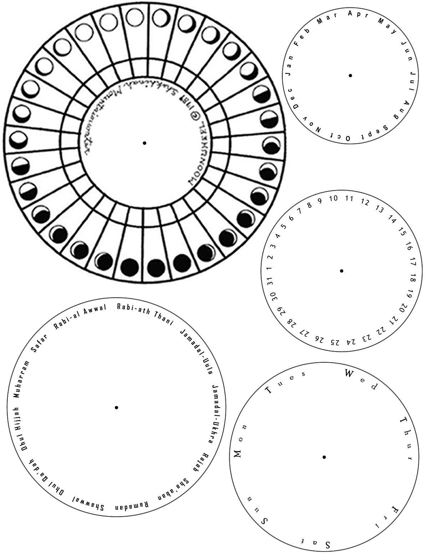 Lunar Solar Calendar Template Muslim Kids Crafts Ramadan Kids