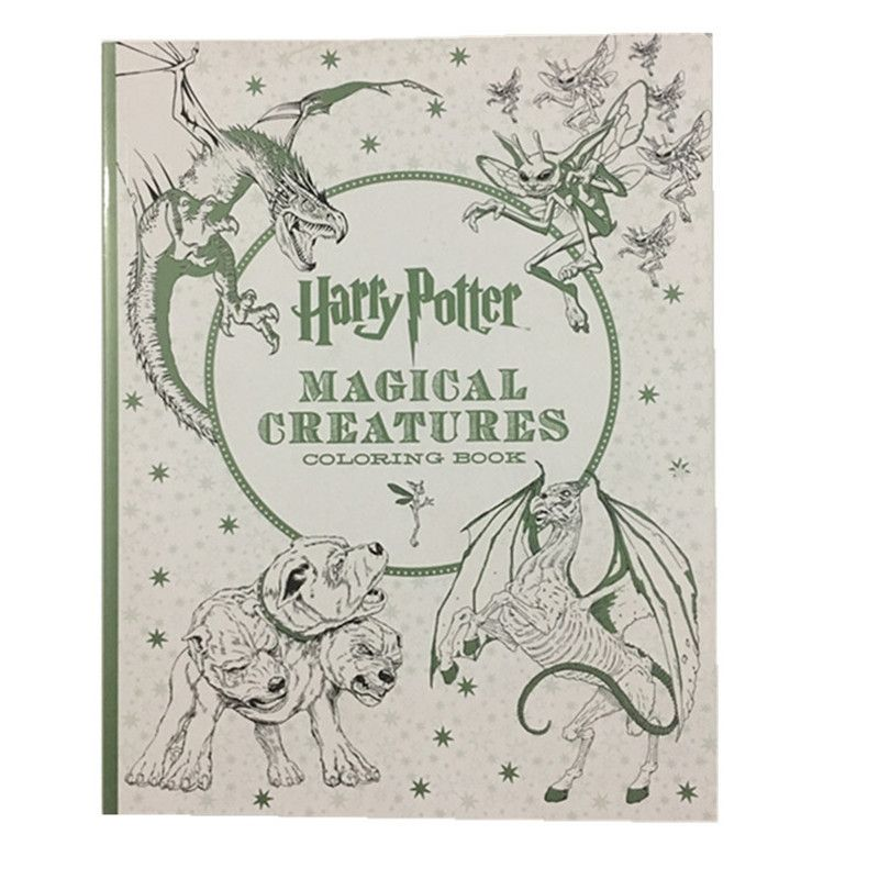 New arrival 96 Pages Harry Potter Coloring Book For Adults secret ...