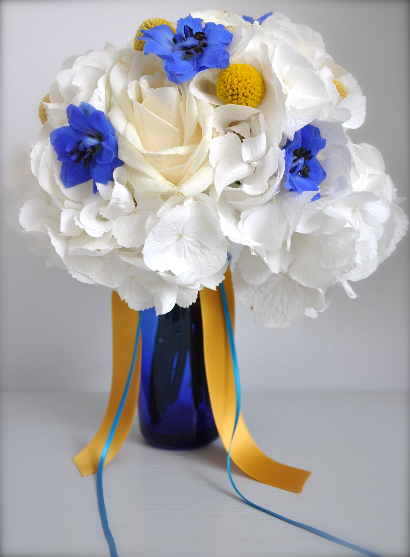 White Yellow Blue Wedding Flowers Httpque Tee