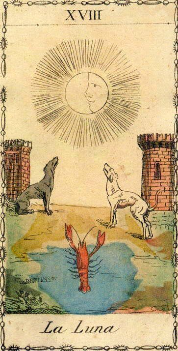 The Moon - Ancient Tarot of Lombardy | Tarot Cards and Decks
