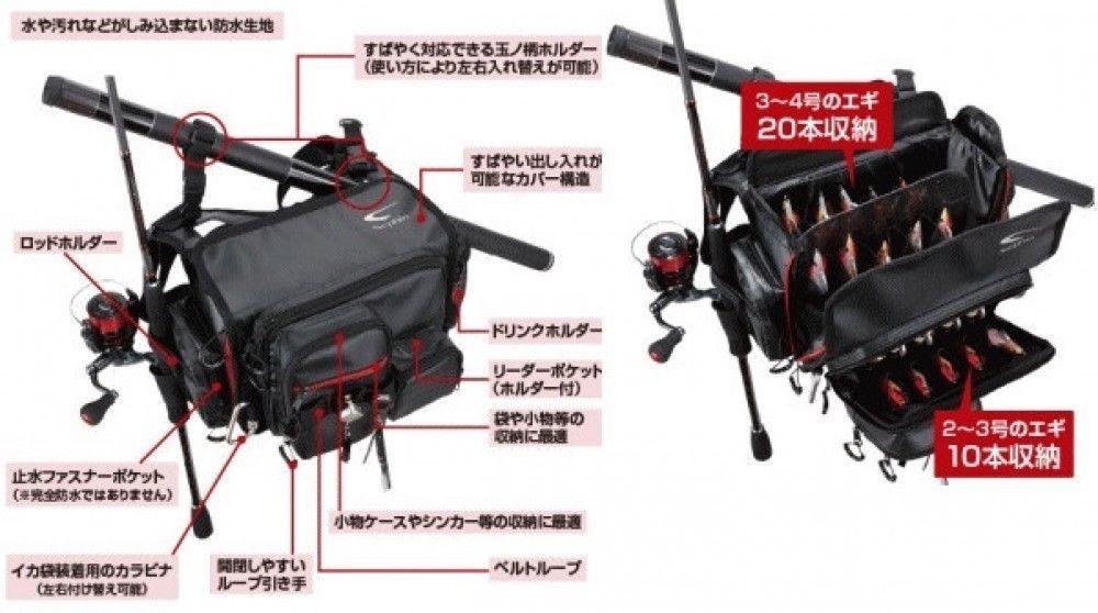 Shimano Sephia Egi Shoulder Bag Xt Bs 211k Black Eging Shoulder Bag Bags Shoulder