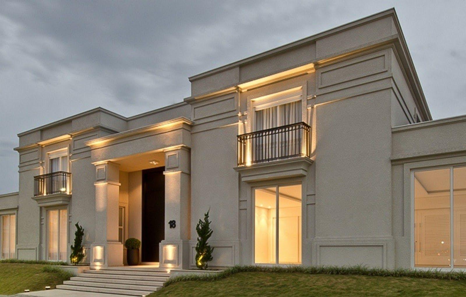 Fachadas de casas com estilo neocl ssico veja modelos for Casa classica moderna