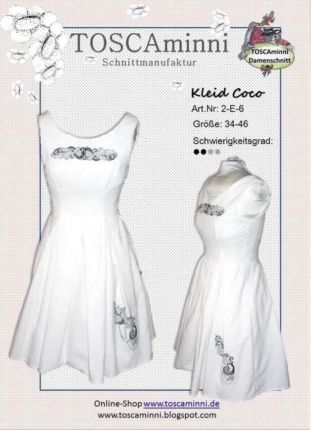 Nähanleitungen Mode - Schnittmuster Kleid (Damen), E-Book ...