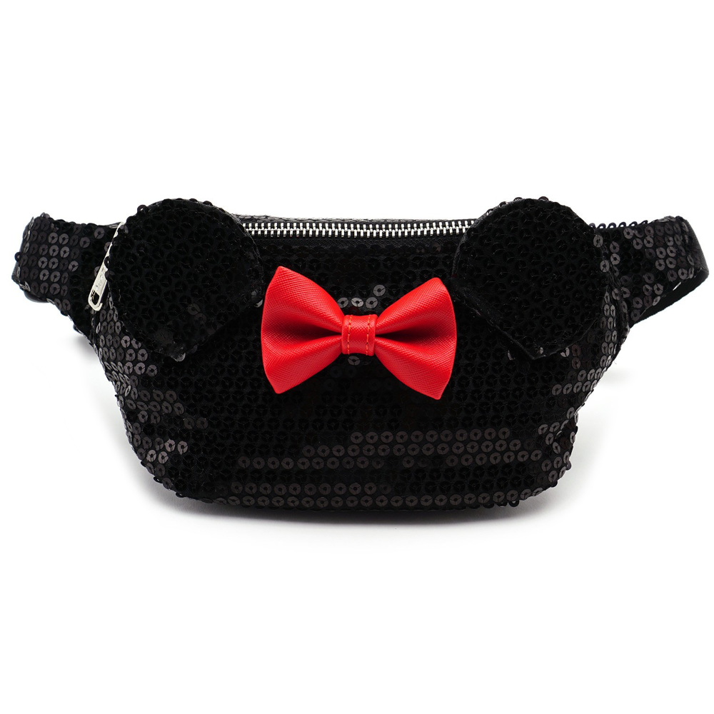 Loungefly Disney by Fanny Pack Dark Red Mickey Mouse Bags