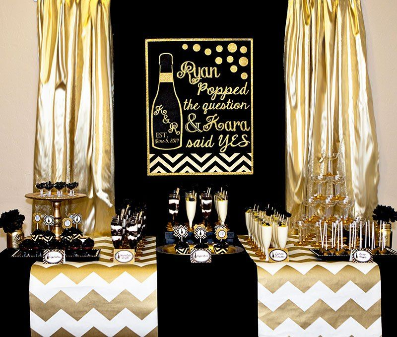 Black And Gold Wedding Decorations: Gold And Black Bridal Shower