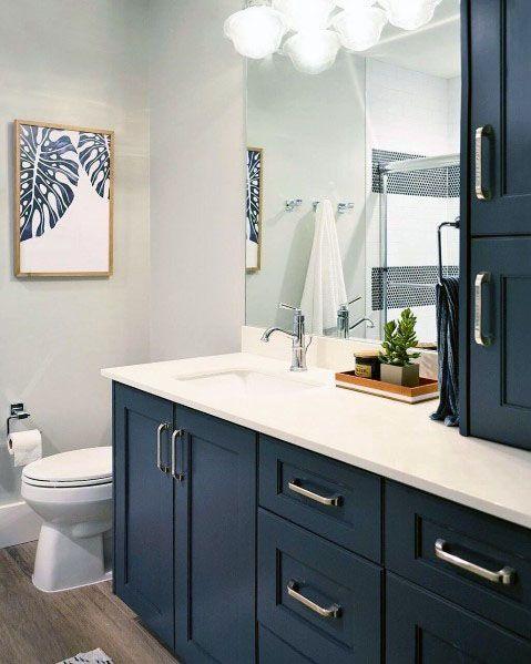 Top 50 Best Blue Bathroom Ideas Navy Themed Interior Designs Navy Blue Bathroom Decor Blue Bathroom Decor Blue Bathroom