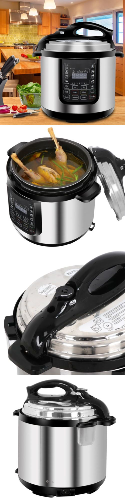Slow cookers and pressure cookers qt in multiuse