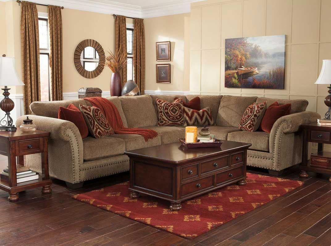Luxury Living Room With Sectional With Brown Sofa And Wooden Table Also With Table Lamp C Living Room Decor Brown Couch Couches Living Room Elegant Living Room
