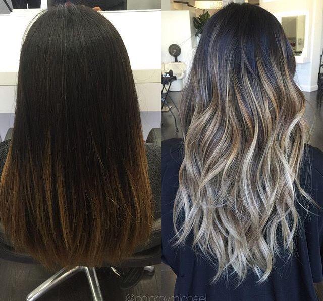 Brunette To Ash Blonde Hair Styles Ash Blonde Hair Balayage Hair