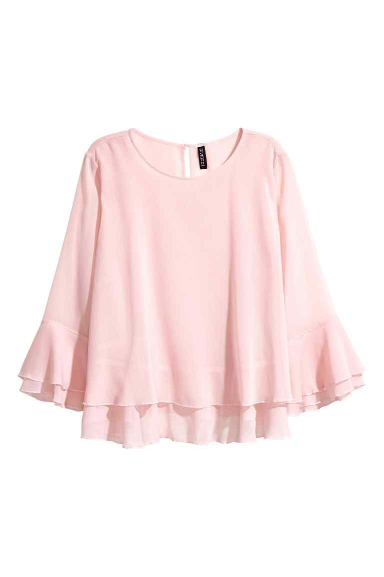 6717545933b Blusa de doble capa - Rosa claro - MUJER