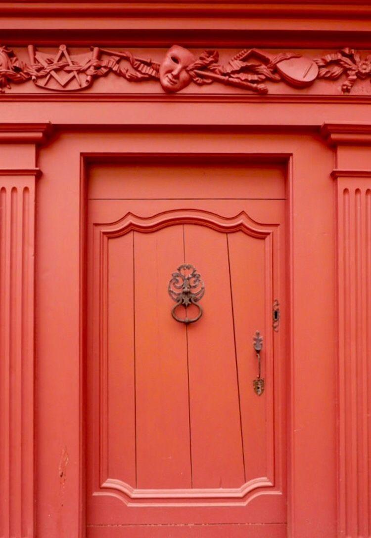 Pin By Sarah Jane S Colors On Coral Courage Beautiful Doors Unique Doors Red Door